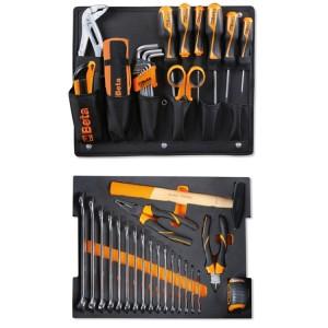 Surtido de 44 herramientas para maletín porta-herramientas COMBO C99V1, en termoformado de espuma