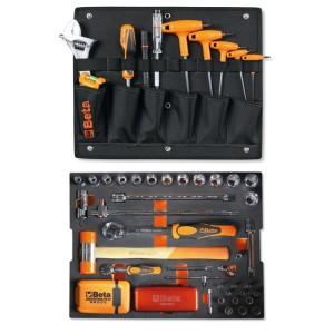 Surtido de 116 herramientas para maletín porta-herramientas COMBO C99V3/2C, en termoformado de espuma