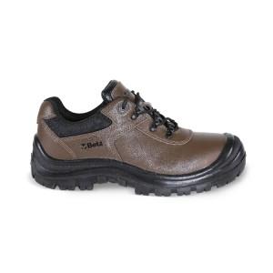 Zapatos en action de piel nabuk hidrorepelente con cobrepuntera de refuerzo en poliuretano