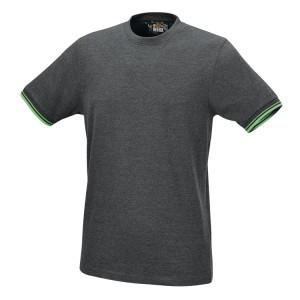 Camiseta de trabajo, 100% algodón, 150 g/m2, gris