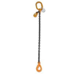 Eslingas de cadena con gancho Self-Locking y reducción 1 ramal, grado 8