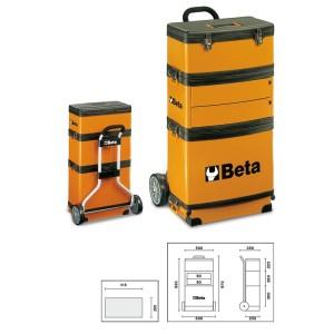 Trolley porta-herramientas  de tres módulos superponibles