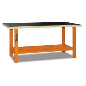 Banco de trabajo con mesa de madera