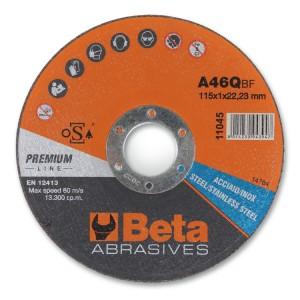 Discos abrasivos de corte para acero y acero inoxidable de espesor fino y centro plano