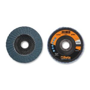 Discos laminados con tela abrasiva al circonio soporte en fibra de vidrio y lámina doble