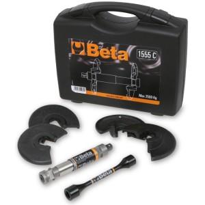 Compresor telescópico para muelles amortiguadores con 4 estribos y barra de torsión