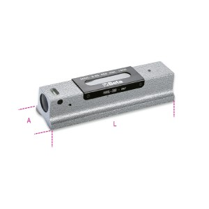 Nivel recto de precisión de hierro  fundido con base prismática rectificada  con 2 cápsulas de nivel irrompibles  precisión 0,05 mm/m