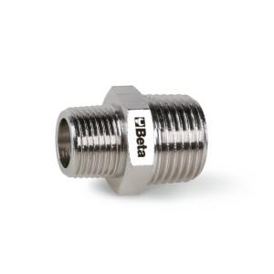 Niples de conexión  con rosca cónica BSPT