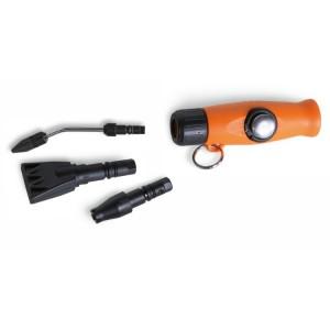 Mini pistola de soplado progresiva con 3 boquillas