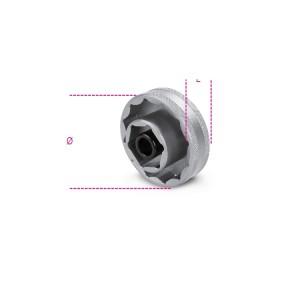 Llave de vaso poligonal para tuercas de buje rueda