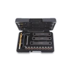 Surtido de herramientas de reposición de roscas dañadas en los soportes de las pinzas de freno M9x1,25