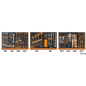 Surtido de 91 herramientas para uso universales en termoformados de espuma