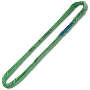 Cables redondos de anillo, 2t, verde tejido en poliéster de alta tenacidad (PES)