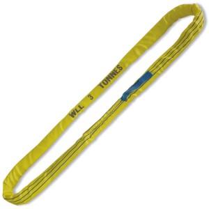 Cables redondos de anillo, 3t, amarillo, tejido en poliéster de alta tenacidad (PES)