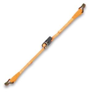 Sistemas de trincaje tubular 2 ganchos y ojales, carraca tensora LC 400 kg cinta en poliéster de alta tenacidad (PES)
