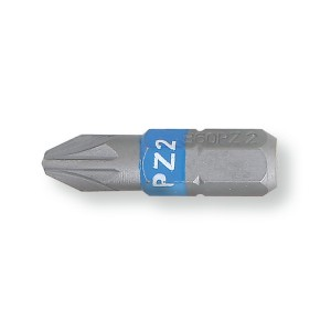 Puntas de atornillar de colores  para tornillos con huella de cruz  Pozidriv® - Supadriv®