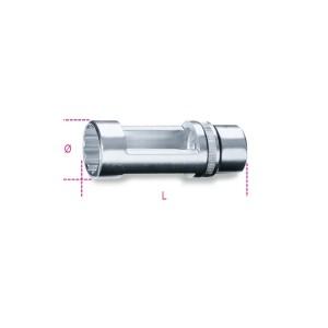 """Llave de vaso con cuadrado  hembra 1/2"""" para inyectores de motores Diesel"""