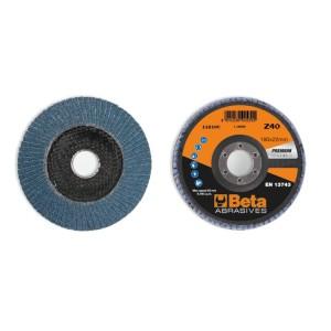 Disque à lamelles conique Zirconium avec support fibre de verre. Gamme Premium avec simple lamelle pour un enlèvement de matière élevé et longue durée de vie