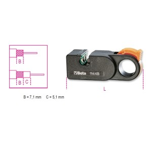 Dénudeur pour câbles coaxiaux avec lames 1144B/R1