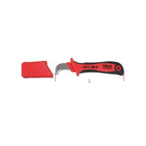 Couteau d'électricien avec dénudeur isolé
