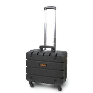 Valise porte-outils en polypropylène, avec 4 roues pivotantes