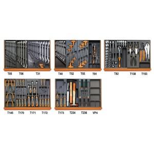Composition de 161 outils pour la maintenance générale en plateaux thermoformés rigides en ABS