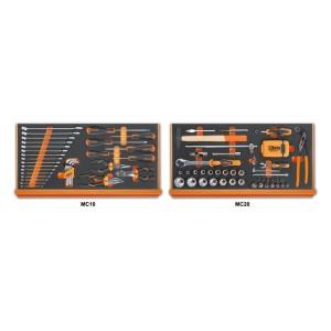 Composition de 108 outils pour la réparation générale en plateaux mousse compacte