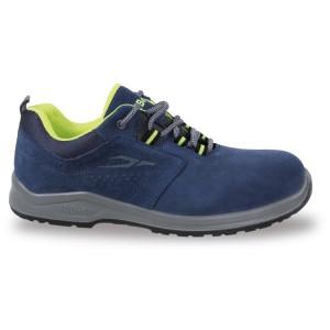 Chaussure basse en daim perforée bleue , avec empiècements en mesh hautement respirant -S1P SRC