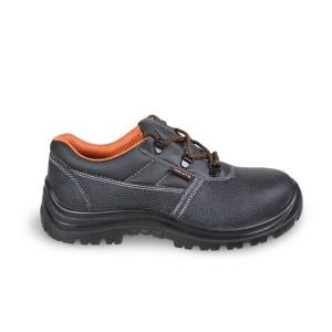 Chaussure basse en cuir pigmenté