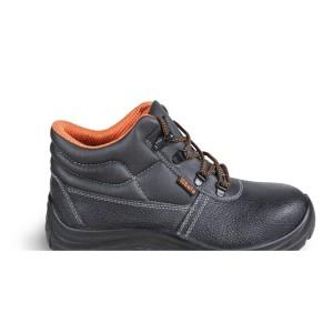 Chaussure montante en cuir pigmenté hydrofuge, délaçage rapide