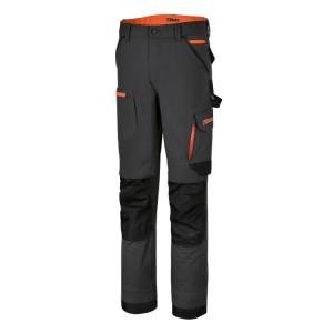 Pantalon de travail multipoches élastique