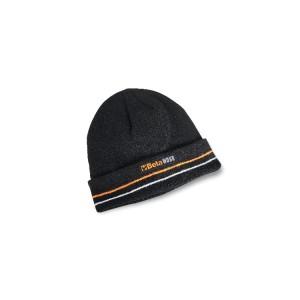 Bonnet d'hiver avec revers, 100 % acrylique rembourré en 3M Thinsulate™, noir