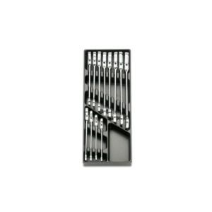 Plateau thermoformé rigide avec composition d'outils