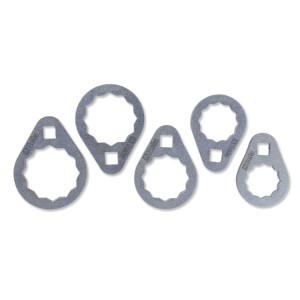 Jeu de 5 clés polygonales  pour cartouches des filtres à huile difficiles d'accès