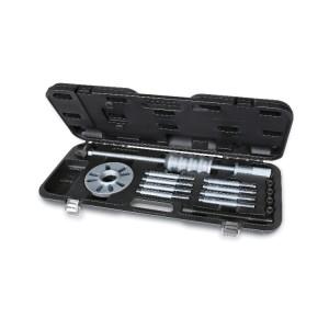 Kit extracteur à inertie avec petites colonnes d'écartement, pour l'extraction des moyeux et roulements de roues à 3, 4 et 5 trous  Idéal pour moyeux avec anneau de centrage saillant