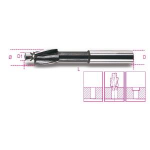 Fraise à noyer pour têtes de vis  cylindriques avec guide de centrage en acier HSS