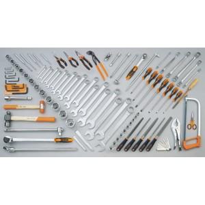 Composition de 99 outils pour engins de chantier