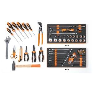 Composition de 64 outils pour la maintenance générale en plateaux mousse compacte