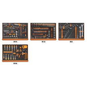 Composition de 273 outils pour la réparation automobile en plateaux mousse compacte