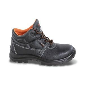 Chaussure montante type Brodequin en cuir pigmenté hydrofuge sans embout ni semelle anti-perforation