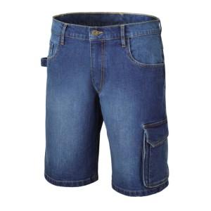 Bermuda jeans de travail élastifié