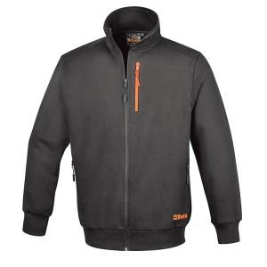 Sweatshirt avec fermeture éclair longue