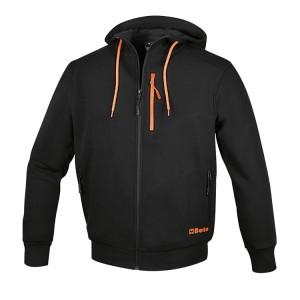 Sweatshirt à capuche avec fermeture éclair longue