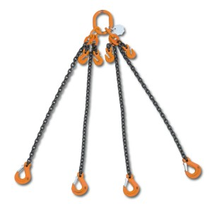 Élingue chaîne à quatre brins, avec raccourcisseurs, grade 8