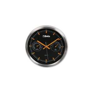 Horloge murale avec thermomètre  et hygromètre, diamètre 26 cm