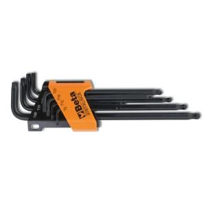 Jeu de 8 clés mâles coudées à tête sphérique, série longue,  pour vis Torx®
