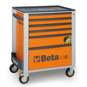 Servante mobile d'atelier à 6 tiroirs  avec système anti-basculement
