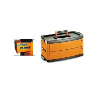 Module central à 2 tiroirs  avec glissières à billes de précision