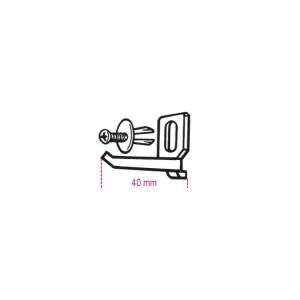 Jeu de crochets 40 mm avec vis VE1