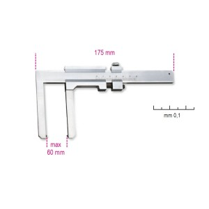 Tolómérő féktárcsához,  rozsdamentes acélból,  pontosság 0.1 mm